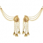 Meia Gold Plated Gold Alloy Dangle Kan Chain Earrings For Women