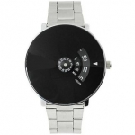 Japan store Paidu 58897 Black Dial Stainless Still Belt Analouge Watch For Boys And Girls Watch