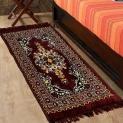 Azaani Brown Abstract Jute Multipurpose Floor Runner – 122 CM x 76 CM