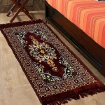 Azaani Brown Abstract Jute Multipurpose Floor Runner – 122 CM x 76 CM