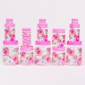 Print Magic Container Pink – Pack of 15 -2000 ml (3 pcs), 1000 ml (3 pcs), 700 ml (3pcs), 150 ml (3 pcs), 50 ml (3 pcs)