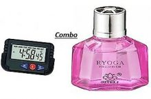 Combo of Ryoga Liquid Car Perfume with Digital Dashboard Clock