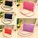 New Fashion Women Small Shoulder Bag PU Leather Crocodile Pattern Zipper Summer Crossbody Bag