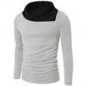 GREY SOLID Cotton Round Neck Regular Full Sleeve Men's T-Shirt