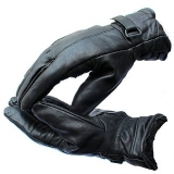Casual Black Full Fingered Leather Gloves For Men