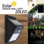 Bentag 20 LED 4W Solar Motion Sensor Outdoor Wall Light – Pack of 1