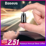 Baseus Mini USB Car Charger For Mobile Phone Tablet GPS 3.1A Fast Charger Car-Charger Dual USB Car Phone Charger Adapter in Car