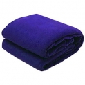 SNS AC Double Bed Blue Fleece Solid Blanket