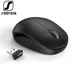 SeenDa Portable Wireless Mouse 2.4GHz USB 3.0 Computer Ergonomic Mouse Mini Mice for Laptop Desktop Notebook PC Optical Mause