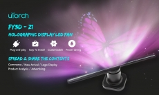 Utorch Z1 3D Holographic Display LED Fan Advertising Machine – BLACK EU PLUG