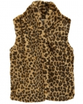 Carter's Faux Fur Cheetah Vest Jacket – Brown