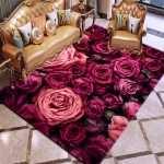 3D Flowers Pattern Carpets for Living Room Area Rugs