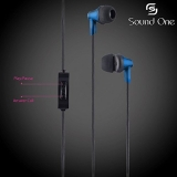 Sound One 616 In Ear Earphones with MIC , 3.5 mm Jack ,Extra Bass with Carry Case & Pouch