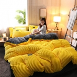 4Pcs AB Sided Thicken Corduroy Velvet Winter Bedding Sets