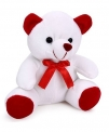 Playtoons Chubby Teddy Bear White & Red – 15 cm