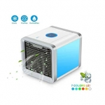 USB Mini Fan Colorful Lamp Portable Air Conditioner – WHITE