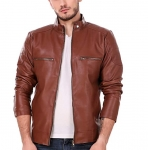 Leather Retail Men Leather Jacket – Brown