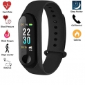 Imported M3 OLED Touch Screen Fitness Band with Live Heart Rate Monitor, Smart Band Waterproof, Activity Tracker Steps Counter