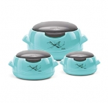 Milton Microwow One touch Insulated Jr Casserole Set of 3