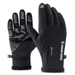 Outdoor Waterproof Windproof Men's Gloves for Riding Mountaineering Ski – BLACK L