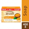 Lever Ayush Purifying Turmeric Soap 100 gm (Pack of 4)