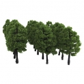 20pcs Model Trees Artificial Tree Train Railroad Scenery 1:100 Architecture Tree