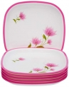 Nayasa Square Full Plate Set;Set of 6;Pink