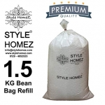 1.5 Kg High Quality Polyurethane Bean Bag Refill Beans by Style Homez