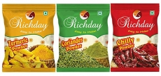 Richday Spices Combo – Chilli, Turmeric, Coriander Powder (500g Each)