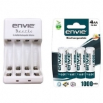 Envie 4 x AA Rechargeable Batteries and Charger Combo