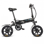 FIIDO D1 Folding Electric Bike Moped Bicycle E-bike – BLACK 7.8AH BATTERY