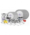 Airan Stainless Steel Dinner Set – 37 Pieces