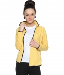 Campus Sutra Yellow Cotton Jackets