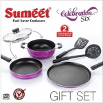 Sumeet Aluminium Nonstick Celebration 6 pc Gift Set (Purple)