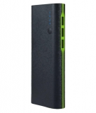 HI-TEL 15000 -mAh Li-Ion Power Bank Black-Green
