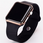 New Fashion Silica Gel Electronic Digital Touch Screen LED Watch – BLACK