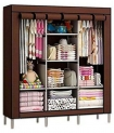 Multipurpose Collapsible and portable triple door Foldable Wardrobe/Cloth Stand/ Cloth Rack / Foldable Almirah