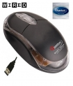 Quantum Qhm222 USB Mouse Black (Wired, Black)