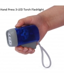 Spartan 0.5W Hand-Pressing Flashlight Torch – No Battery Required, Simply Recharge By Hand-Pressing Multicolour