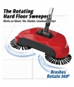 TR Sweeper Mop Auto Spin Hand Push Sweeping Broom Floor Dust Cleaning Sweeper Broom Mop