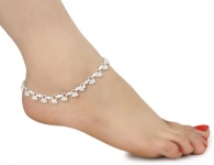 Women and Girls Silver Plated White Metal Payal Anklets