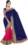 Only at Rs. 584 Solid Fashion Poly Georgette Saree