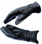 1 Pair Leather Snow Proof Warm Winter Protective Gloves