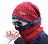 Ultra Soft Unisex Woolen Beanie Cap Plus Neck Scarf Set