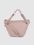 Allen Solly Taupe Solid Sling Bag, zip closure