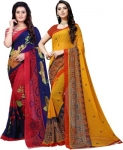 Only at Rs. 499 Pack of 2 Daily Wear Georgette Saree