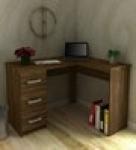 Anko Study cum Work Desk in Walnut Brown Finish