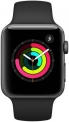 Apple Watch Series 3 GPS – 42 mm Space Grey Aluminium Case with Black Sport Band