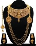 ARTS CHETAN  Copper, Brass, Crystal Jewel Set