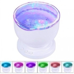 Aurora Master Night Light Ocean Wave Projector Music Player Speaker LED Night Light Colorful Sky Starry